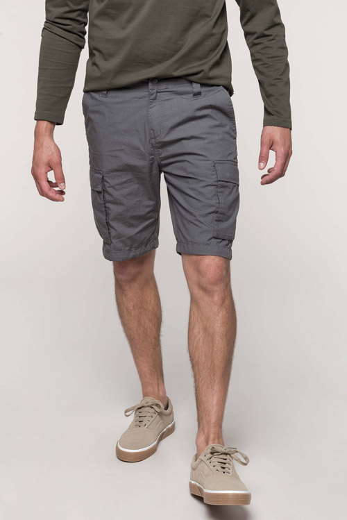 Bermuda léger multipoches homme