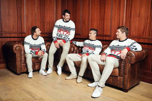 Pullover motif rugby
