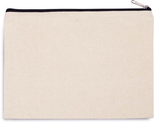 Pochette en coton canvas - grand modèle