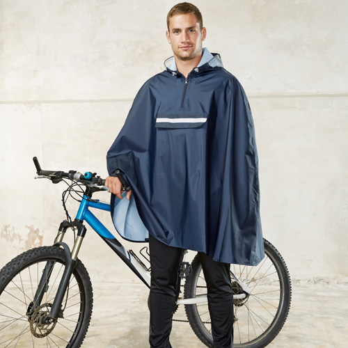 Poncho cycliste unisexe