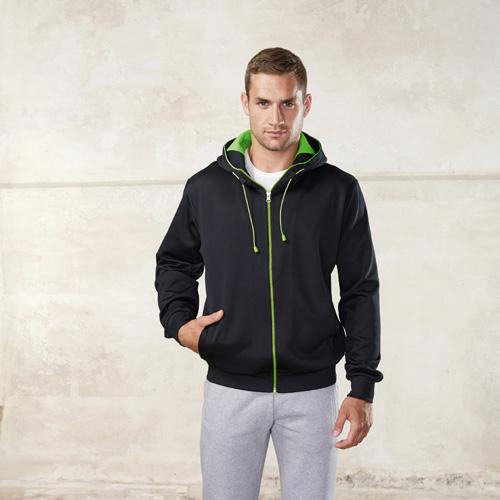 Veste capuche sportswear polyester unisexe
