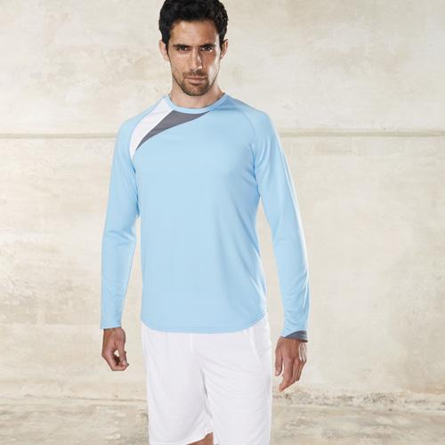 T-shirt sport manches longues unisexe