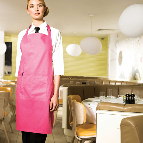 Colour apron with pocket