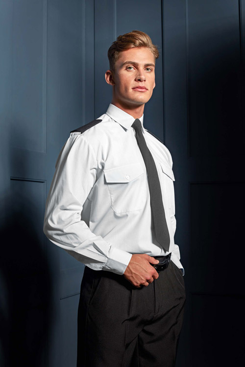 Chemise homme manches longues pilote
