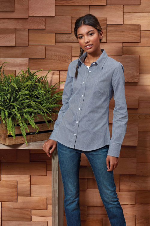 Chemise femme micro carreaux ''vichy''