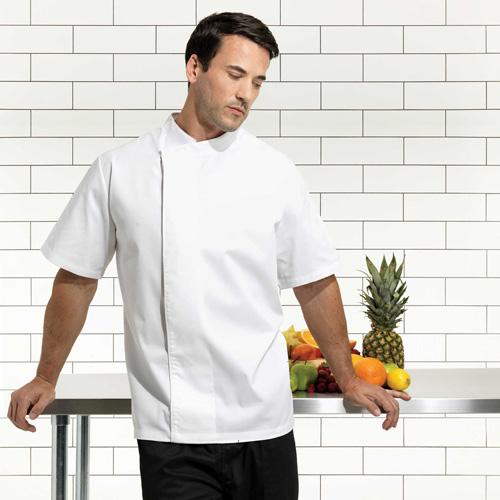 Tunique chef manches courtes unisexe