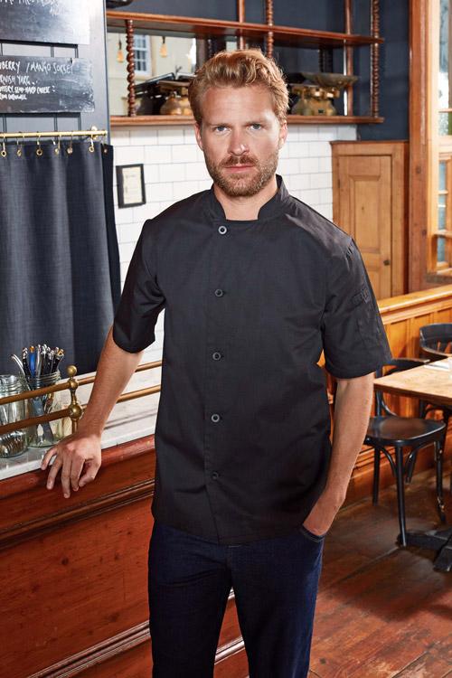 Veste chef cuisinier manches courtes ''essential''