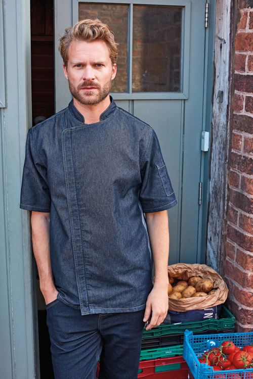 Veste chef cuisinier ''zip close''