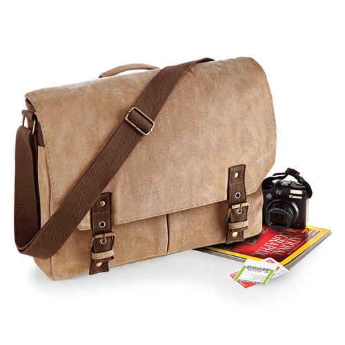 Vintage canvas satchel