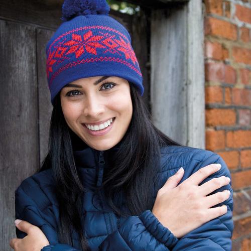 Fair isles knitted hat - bonnet fair isles