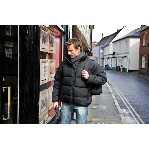 Men down feel jacket