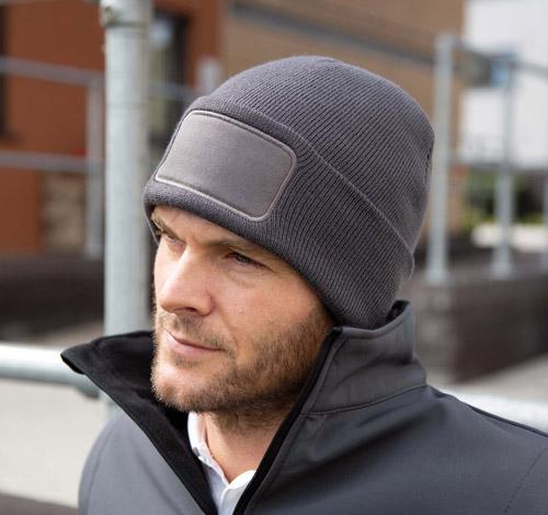 Bonnet imprimable double tricot