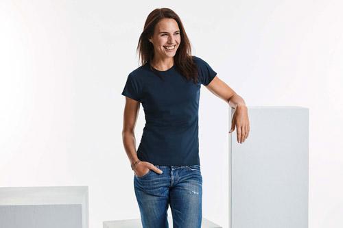 T-shirt femme col rond hd