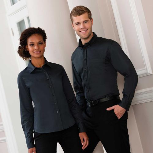 Twill ladies shirt - chemise manches longues en coton sergé pour femme