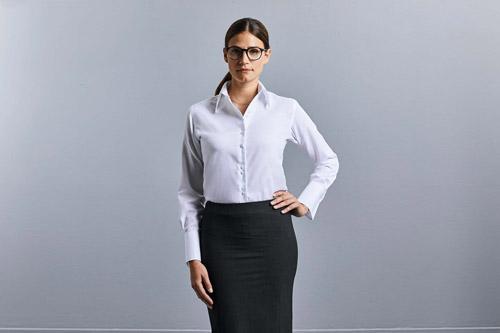 Chemise femme manches longues non iron