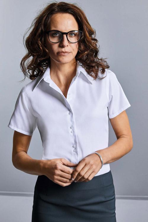 Chemise femme manches courtes non iron