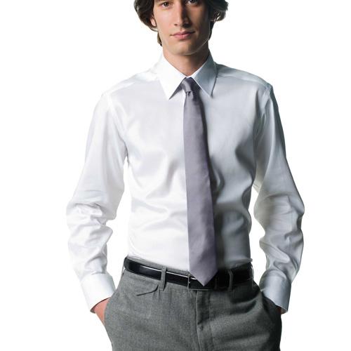 Modern non iron shirt - chemise manches longues coupe moderne sans repassage pour homme