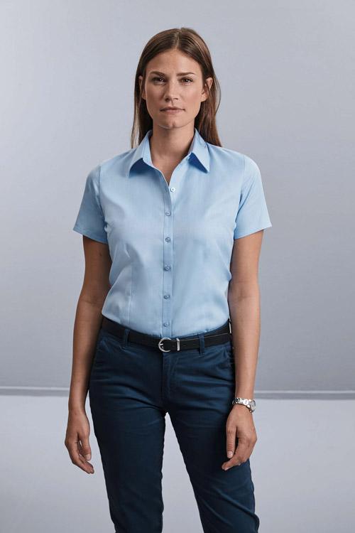 Chemise femme manche courtes À chevrons