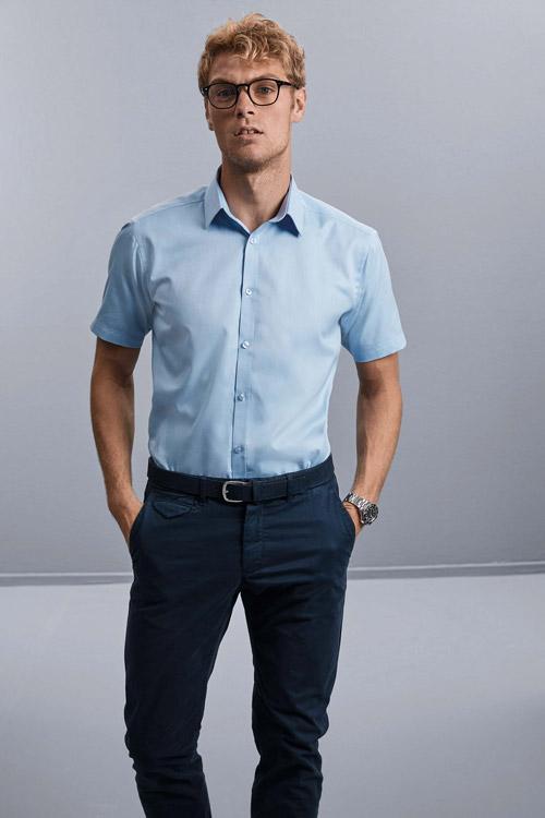 Chemise homme manche courtes À chevrons
