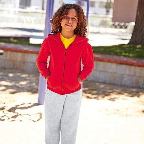 Kids hooded sweat jacket (62-045-0)