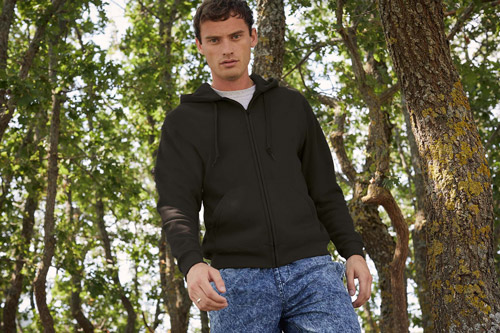 Sweat-shirt homme zippÉ capuche classic (62-062-0)