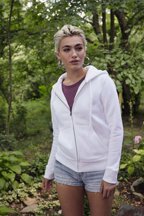 Sweat-shirt femme zippÉ capuche premium (62-118-0)